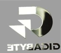 1x Gigabyte Motherboard Decal Motherboard Metallic Silver St