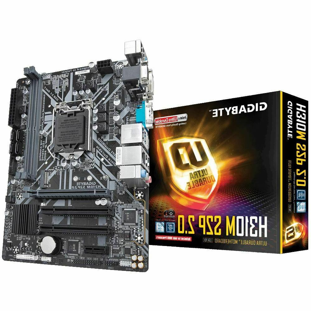 NEW GIGABYTE GA-A320M-S2H AMD Ryzen DESKTOP 2000 READY AM4 M