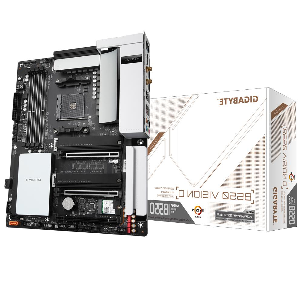 new b550 vision d motherboard cpu am4